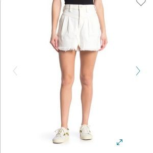 Free People Side Car mini skirt in white clay